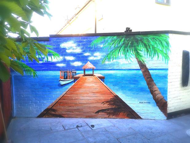 Paul Curtis, Beach mural
