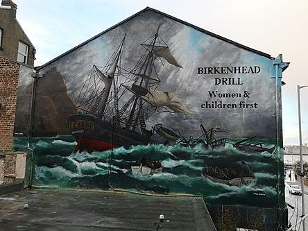 HMS Birkenhead painted by Paul Curtis