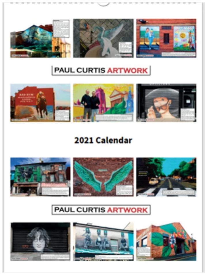 Get your first ever Paul Curtis Artwork calendar!