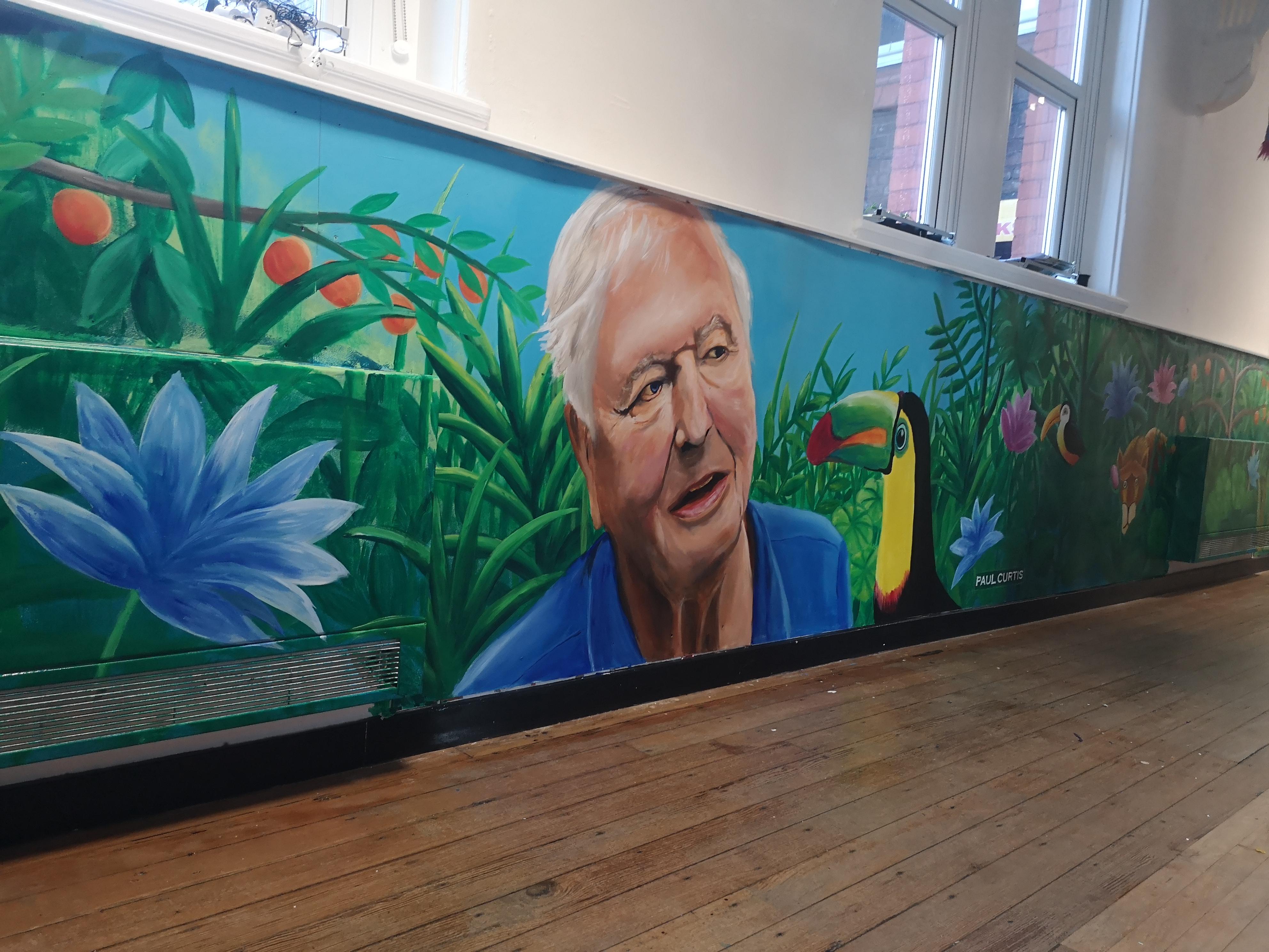 Sir David Attenborough mural, Paul Curti