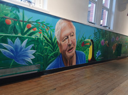 Sir David Attenborough mural, Paul Curti