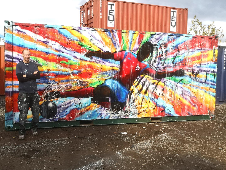 Paul Curtis Leasowe rakers mural