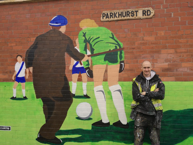 Prenton Park Old hooligan mural