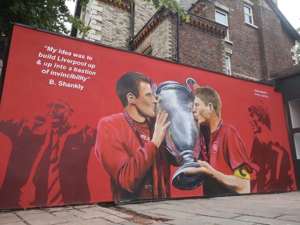 Gerrard and Carra mural Liverpool