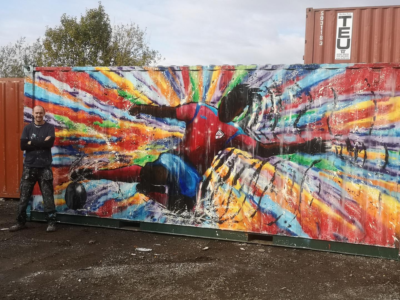 Leasowe rakers FC mural by Paul Curtis