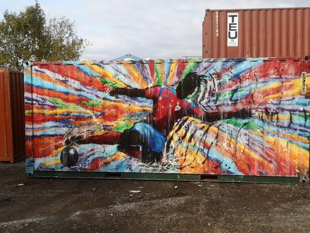 Liverpool, Leasowe rakers mural Paul Cur