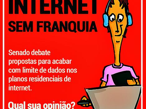 Projetos tramitam no Senado em relação aos planos das operadoras de telefonia que limitam a internet