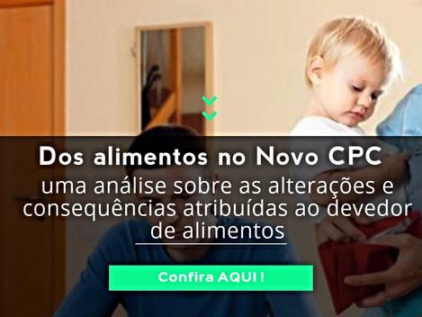 Dos alimentos no Novo CPC: uma análise sobre as alterações e consequências atribuídas ao devedor.