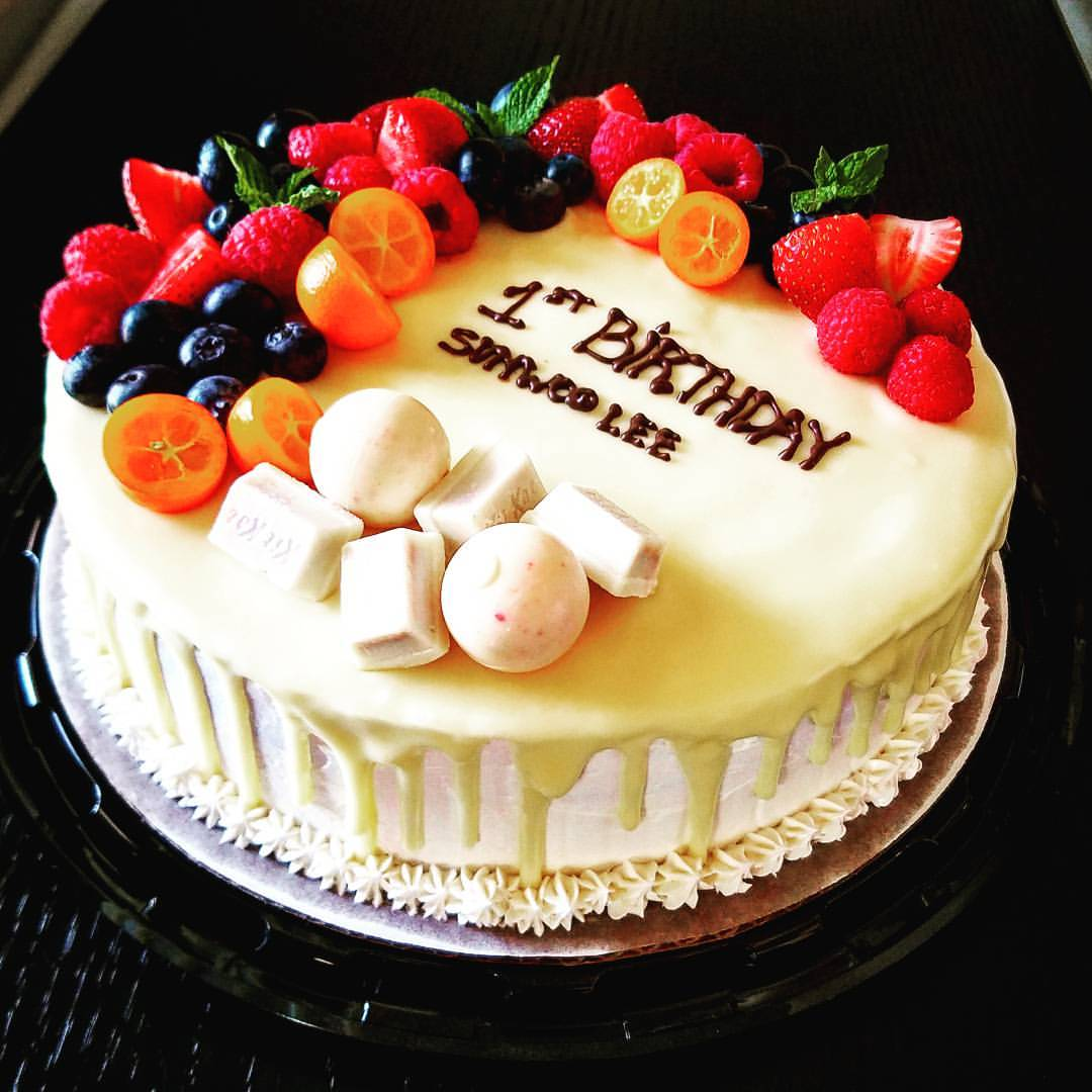 White Chocolate Vanilla Birthday Cake