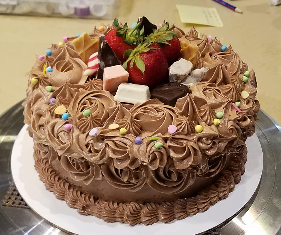 Chocolate birthday cake9