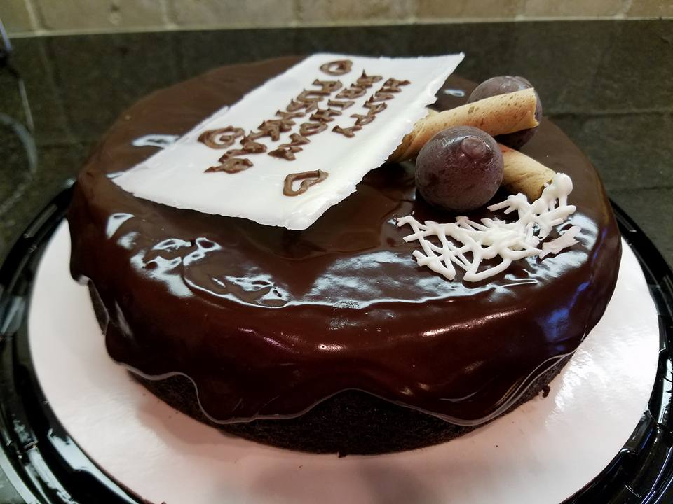 Banana Chocolate Cake with Dark Chocoate Ganache1