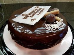 Banana Chocolate Cake with Dark Chocoate Ganache1