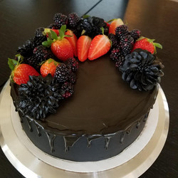 Black theme cake