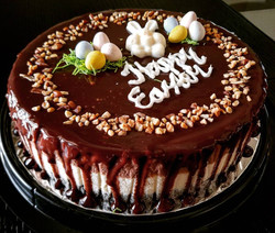 Nutella cheese cake for Easter