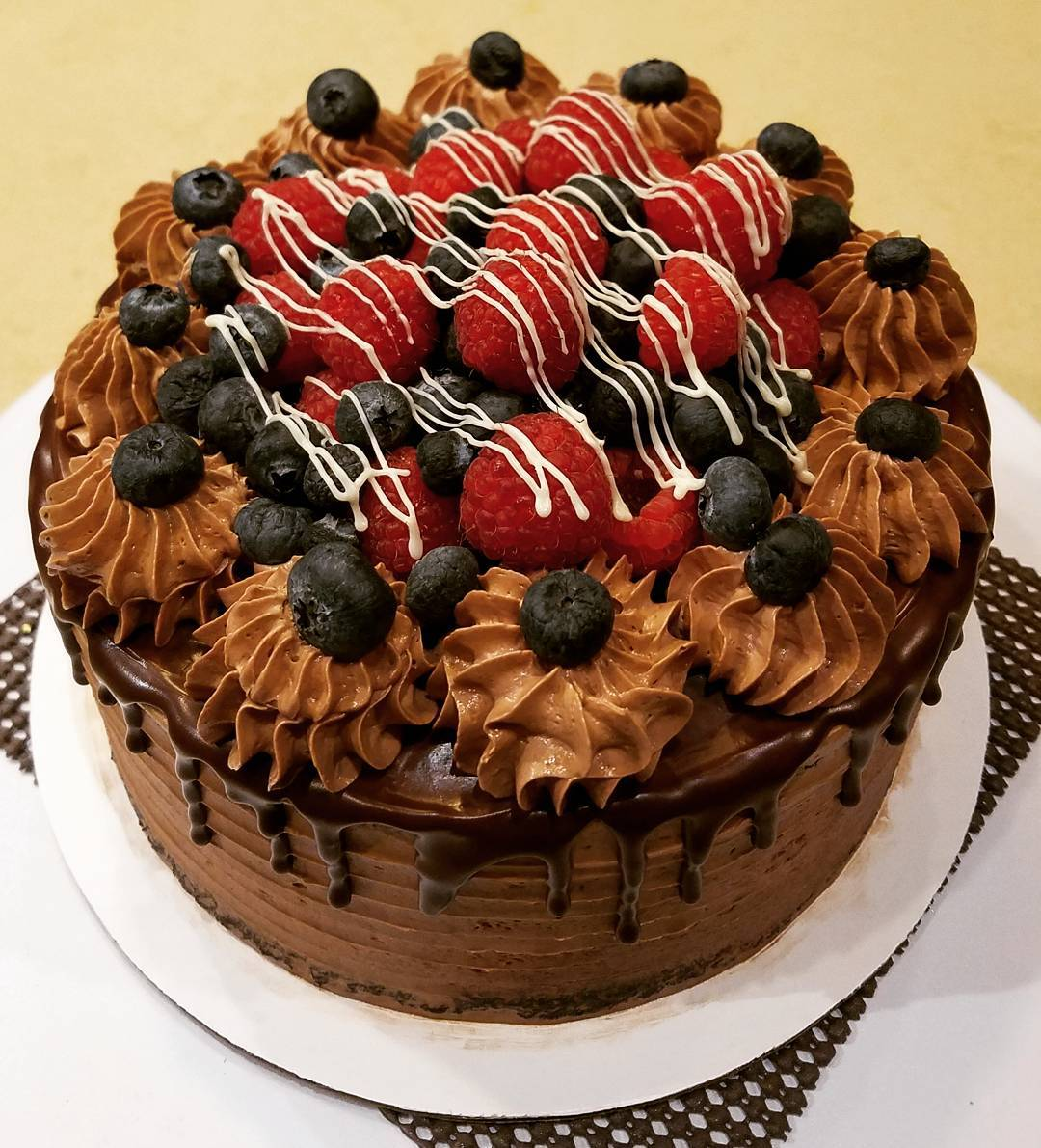 Double Chocolate Fruit Cake