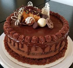 Chocolate Supreme birhtday cake