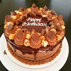 Chocolate Cake with Chocolate Peanut Butter Frosting1