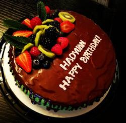 Pandan Chiffon birthday cake1