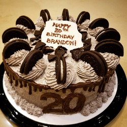 Oreo Chocolate Birthday Cake with Oreo Frosting