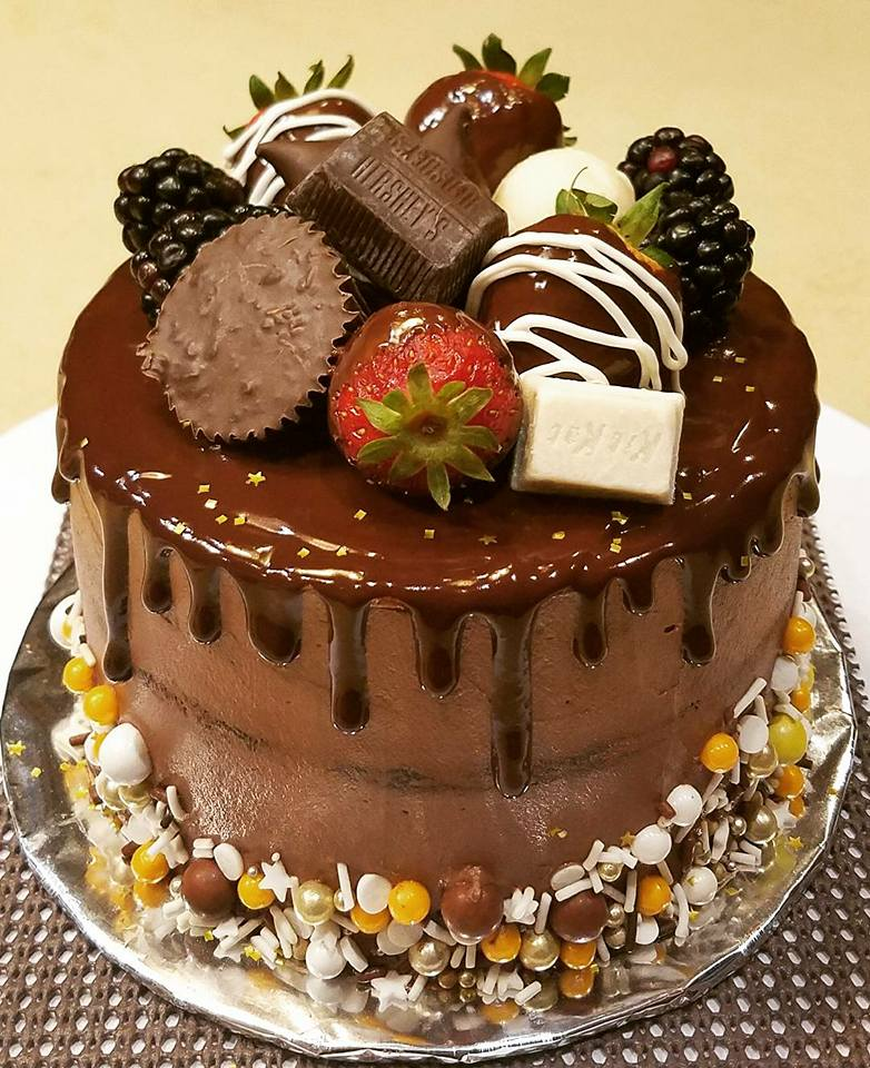 Chocolate birthday cake5