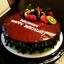 Pandan Chiffon birthday cake