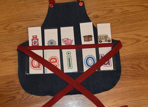 The kid's version in denim with red trim