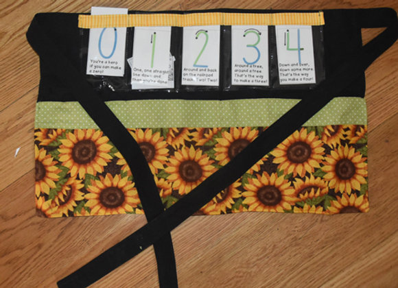The half-apron with sunflowers