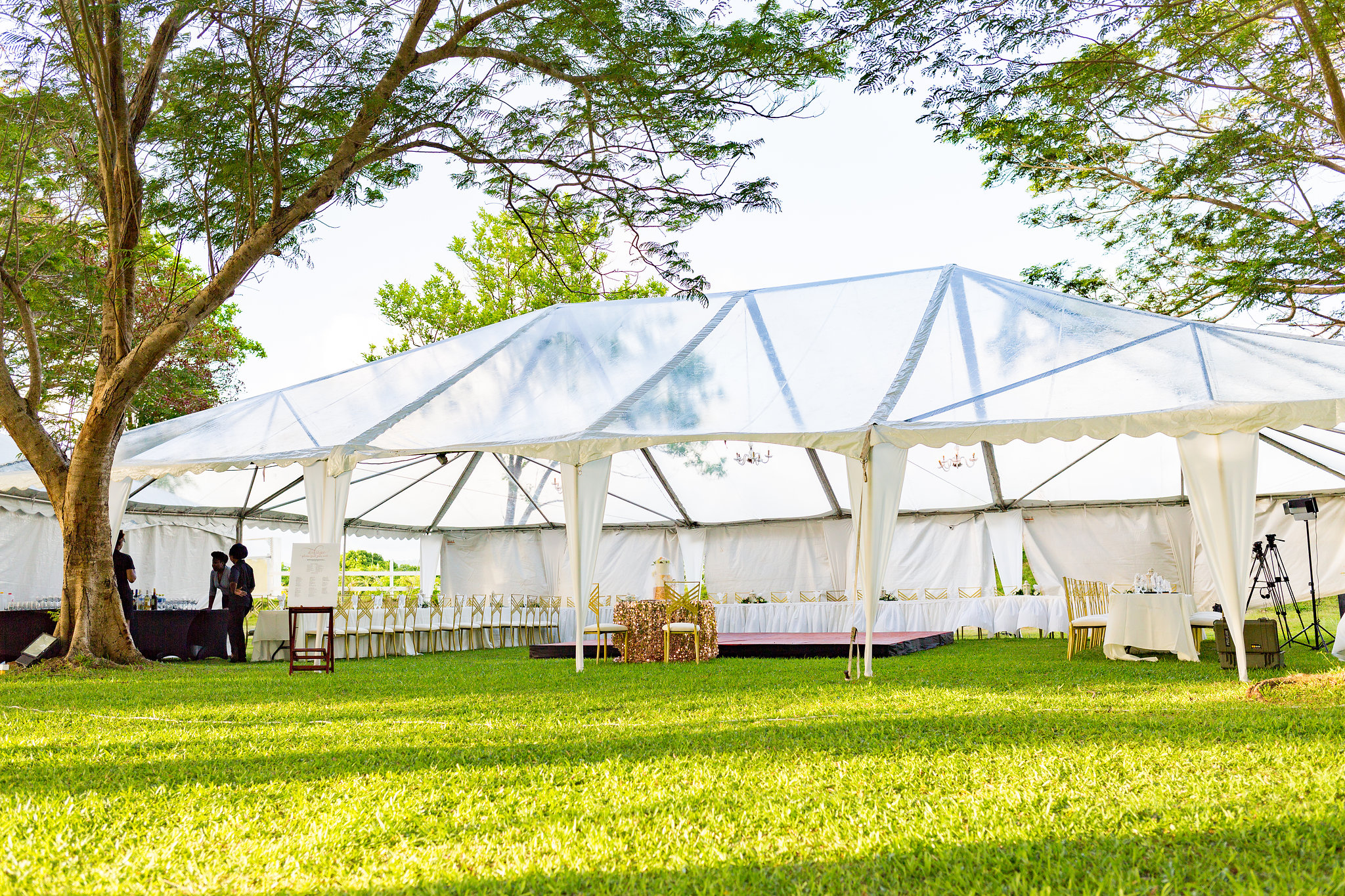 Clear Top Tent in Barbados