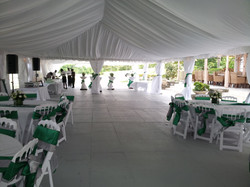 White Top Tent in Barbados