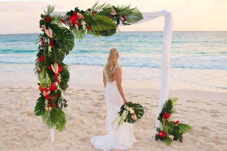 Hilton Barbados beach wedding
