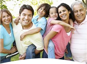 Hispanic multi-generational family photo