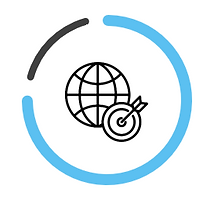 World network with target icon