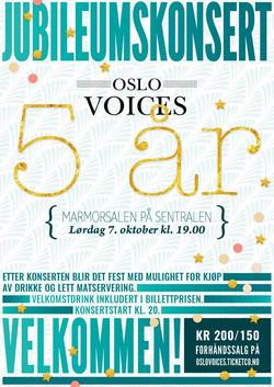 Jubileumskonsert: Oslo Voices 5 år