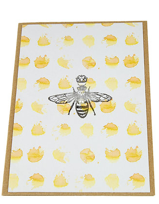 Bee Stamp Collection Card - Ink Splash