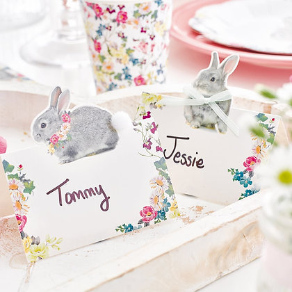 Country Bunny Place Names x8