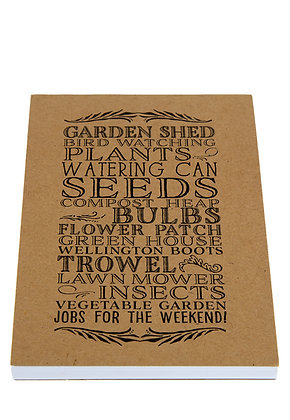 Garden Lover Notebook - Kraft