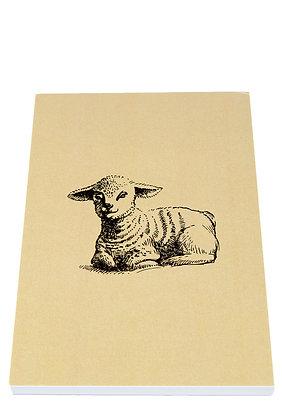 Easter Lamb Notebook - Cream
