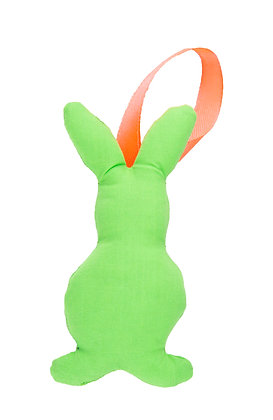 Neon Green Hanging Bunny Fabric Decoration