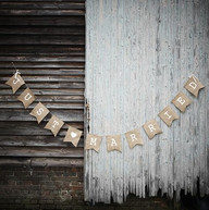 Just Married Rustic Banner