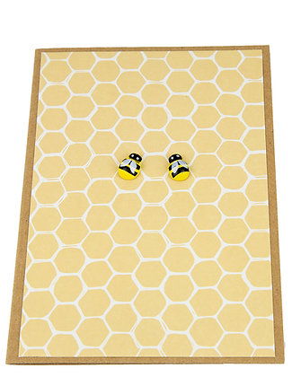 Bee Collection Card - Dual Yellow Honeycomb