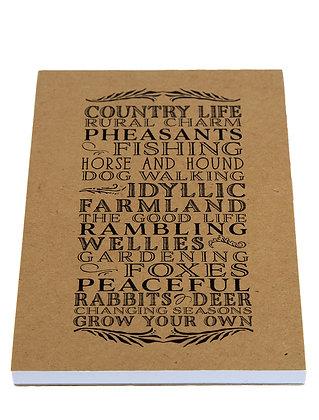 Countryside Lover Notebook - Kraft