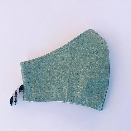 Green Glitter Fabric Face Mask