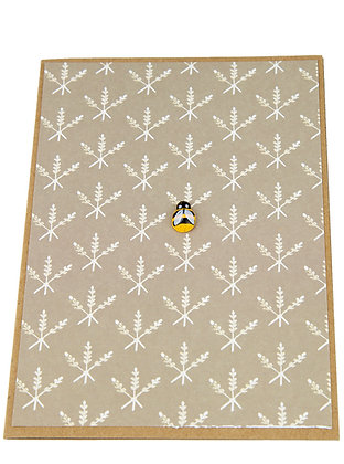 Bee Collection Card - Wheat