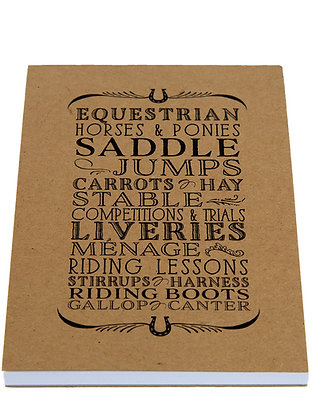 Horse Lover Notebook