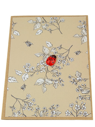 Ladybug Collection Card - Flowers