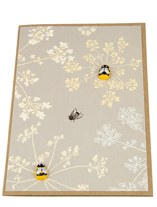 Bee Collection Card - Yellow Stems
