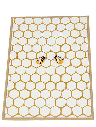 Bee Collection Card - Dual Gold Honeycomb