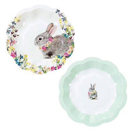 Country Bunny Plates x12
