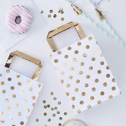 Gold Foil Polka Dot Party Bags