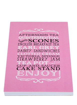 Afternoon Tea Notebook - Pink